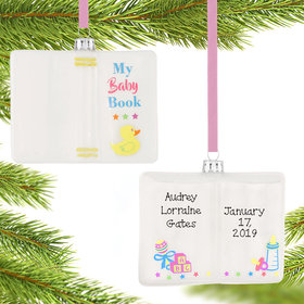 Personalized Baby Memory Book Christmas Ornament