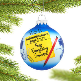 Personalized Administrative Assistant Christmas Ornament