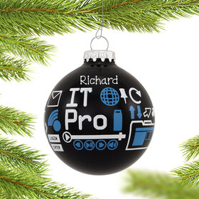 Personalized IT Professional Christmas Ornament