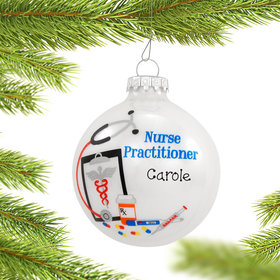 Personalized Nurse Practitioner Christmas Ornament