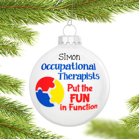 Personalized Occupational Therapist Christmas Ornament