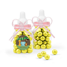 Personalized Baby Shower Favor Assembled Light Pink Baby Bottle with Sixlets