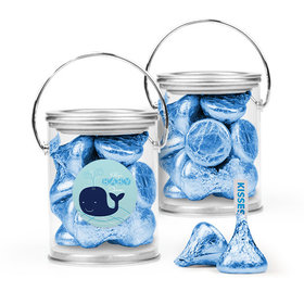 Personalized Baby Shower Favor Assembled Paint Can with Hershey's Kisses