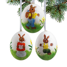 Easter Bunny Easter Eggs (Set of 3) Christmas Ornament