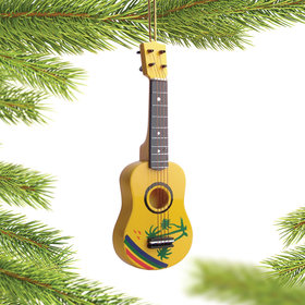Personalized Ukulele Christmas Ornament