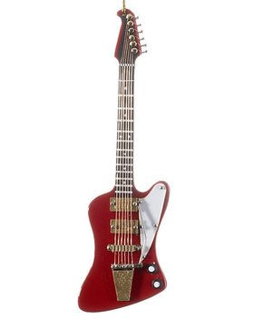 Red Isolated Electric Guitar Christmas Ornament