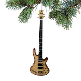 Personalized Bass Guitar Christmas Ornament