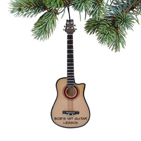 Personalized Acoustic Bass Guitar Christmas Ornament