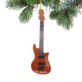 Personalized Fender Stratocaster Electric Guitar Christmas Ornament
