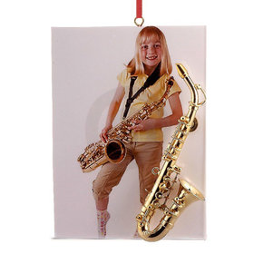 Saxophone Picture Frame Christmas Ornament