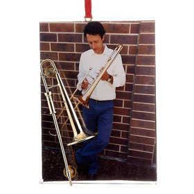 Trombone Picture Frame Christmas Ornament