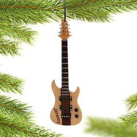 Personalized 8 String Guitar Christmas Ornament