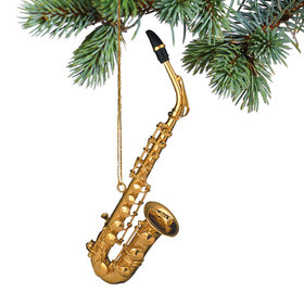 Saxophone Christmas Ornament