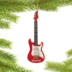 Personalized Fender Electric Guitar Christmas Ornament
