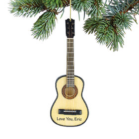Personalized Classic Guitar Christmas Ornament