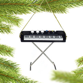 Personalized Electric Keyboard Christmas Ornament