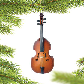 Personalized Bass Christmas Ornament