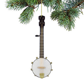 Personalized Banjo Christmas Ornament