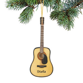 Personalized Classic Guitar Steel String w/ Pick Guard Christmas Ornament