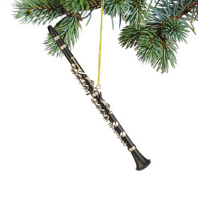 Personalized Clarinet Black Christmas Ornament