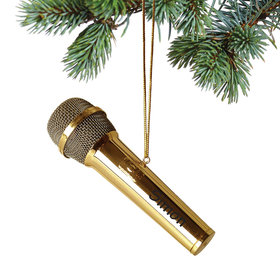 Personalized Microphone Christmas Ornament