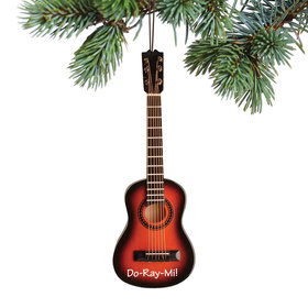 Personalized Brown String Guitar Christmas Ornament