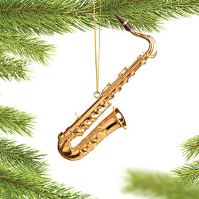 Personalized Tenor Saxophone Christmas Ornament