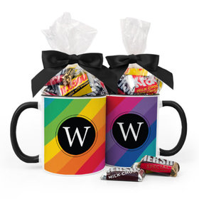 Personalized Birthday Rainbow 11oz Mug with Hershey's Miniatures