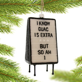 Extra Guac Christmas Ornament