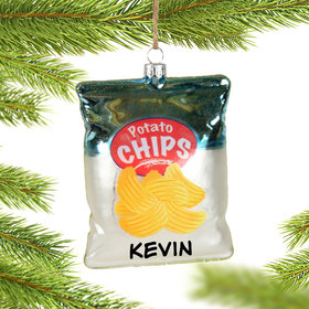 Personalized Potato Chip Christmas Ornament