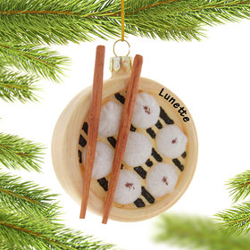 Personalized Steamed Dumplings Christmas Ornament