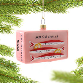 Personalized Anchovies Can Christmas Ornament