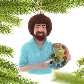 Bob Ross Christmas Ornament