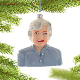Betty White Christmas Ornament