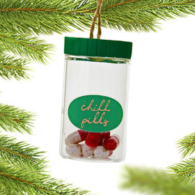 Chill Pill Canister Christmas Ornament