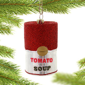 Personalized Tomato Soup Christmas Ornament