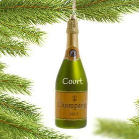 Personalized Sparkling Chamagne Christmas Ornament