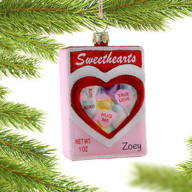 Personalized Box of Sweethearts Christmas Ornament