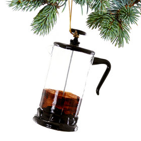 French Press Christmas Ornament