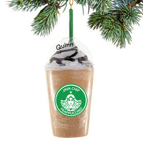 Personalized Frappuccino Christmas Ornament
