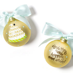 And They Lived Happily Ever After Wedding Cake Christmas Ornament