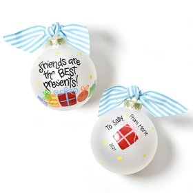 Personalized Friends Are The Best Presents Christmas Ornament