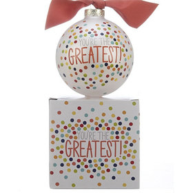You're the Greatest Polka Dots Christmas Ornament