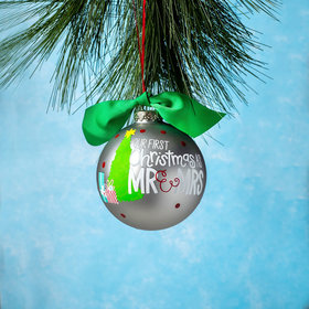 Personalized Our First Christmas as Mr. & Mrs. Christmas Tree Christmas Ornament