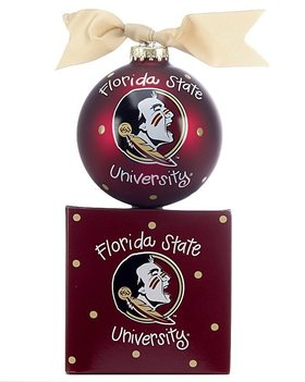 Personalized Florida State University Logo Christmas Ornament