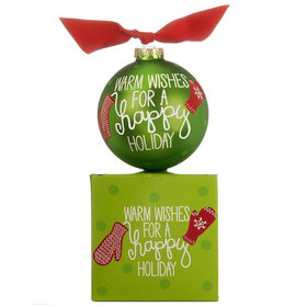 Warm Wishes Mitten Christmas Ornament