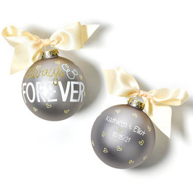 Personalized Always & Forever Christmas Ornament