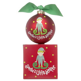 Santa's Little Helper Boy Christmas Ornament