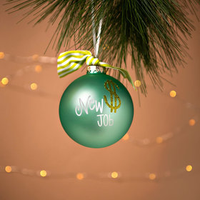 Personalized New Job Employment Christmas Ornament