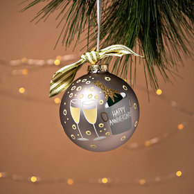 Personalized Happy Anniversary Christmas Ornament